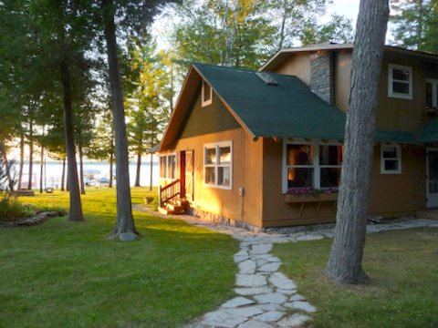 Cabin on mullett lake for Fishing cabins in michigan